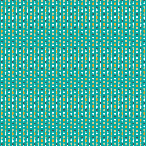 Retro Kitchen Jade Bead Curtain fabric by inscribed_here on Spoonflower - custom fabric