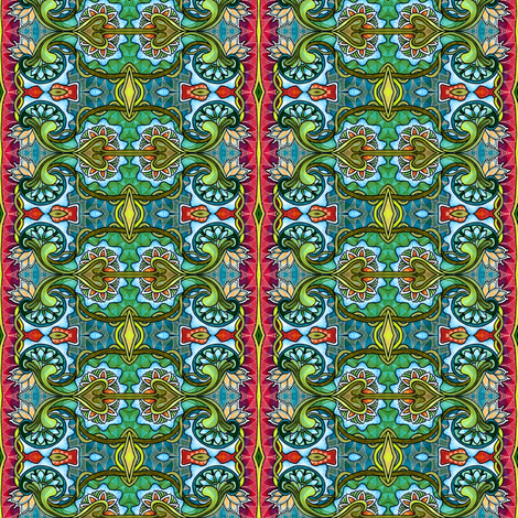 Doors to Arabia fabric by edsel2084 on Spoonflower - custom fabric