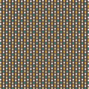 Retro Kitchen Brown and Jade Bead Curtain