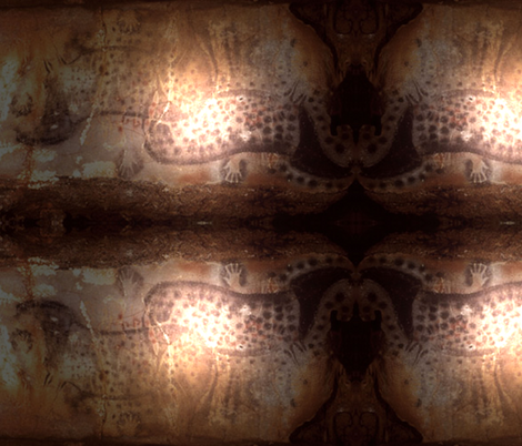 cave_art_3 fabric by whotookmyname on Spoonflower - custom fabric