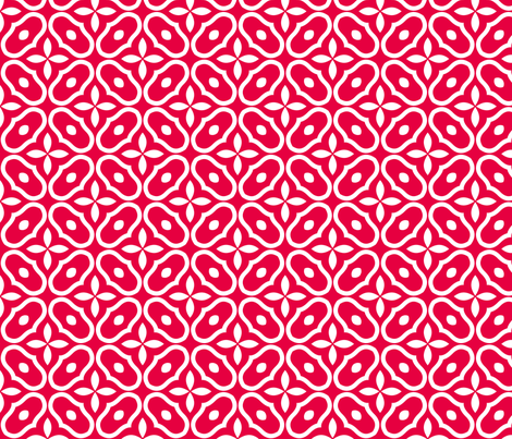 Mosaic - Retro Kitchen Red fabric by inscribed_here on Spoonflower - custom fabric