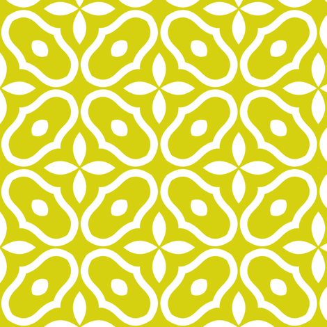 Mosaic - Chartreuse fabric by inscribed_here on Spoonflower - custom fabric