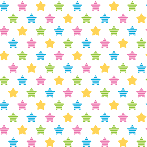 Striped stars fabric by petitspixels on Spoonflower - custom fabric