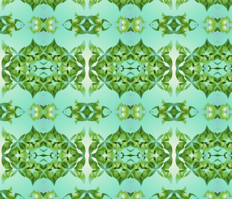 Lightgreen_Hyedra fabric by lavaflowzzz on Spoonflower - custom fabric