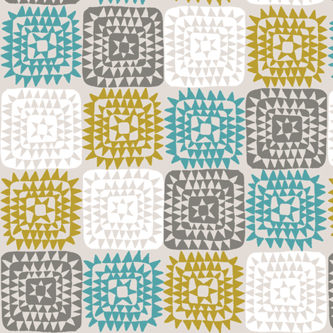 SQUARED_BLUE fabric by glorydaze on Spoonflower - custom fabric