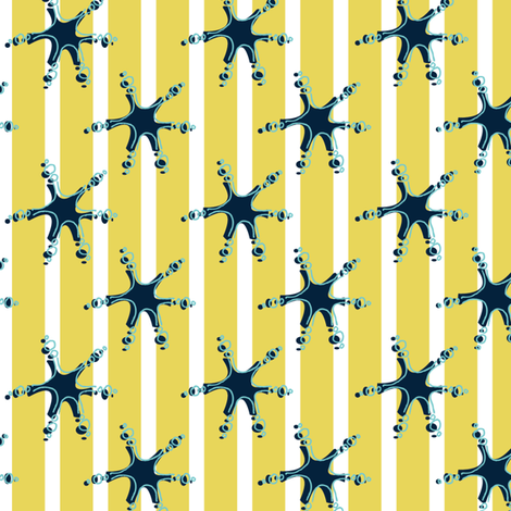 Playful stars fabric by ivoryshades on Spoonflower - custom fabric