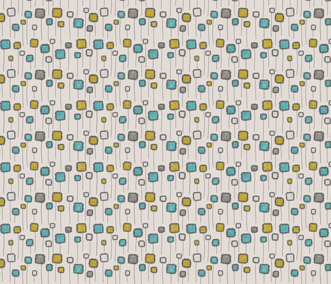 SQUARE BLOOM_BLUE fabric by glorydaze on Spoonflower - custom fabric