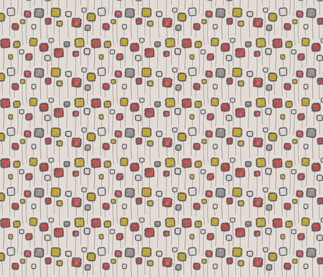 SQUARE BLOOM_RED fabric by glorydaze on Spoonflower - custom fabric