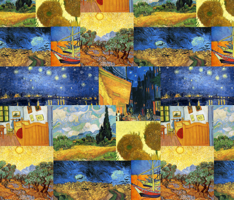 Art of Van Gogh fabric by 13moons_design on Spoonflower - custom fabric