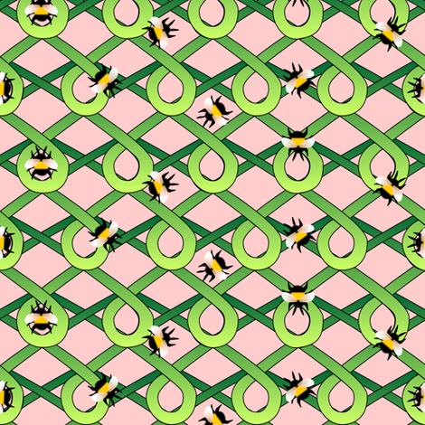 bumblebees fabric by glimmericks on Spoonflower - custom fabric