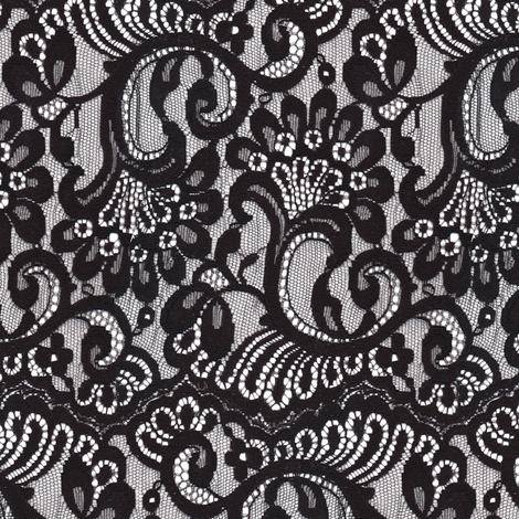 Large black lace fabric by bonnie_phantasm on Spoonflower - custom fabric