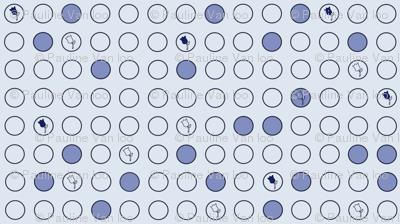 Delft blue dots