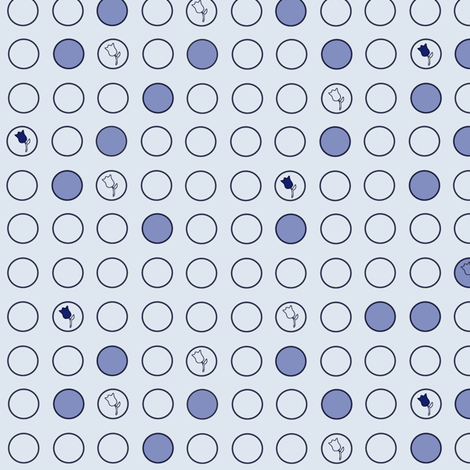 Delft blue dots fabric by oceanpien on Spoonflower - custom fabric