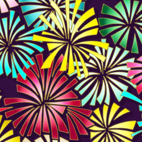 fireworks fabric by scrummy on Spoonflower - custom fabric