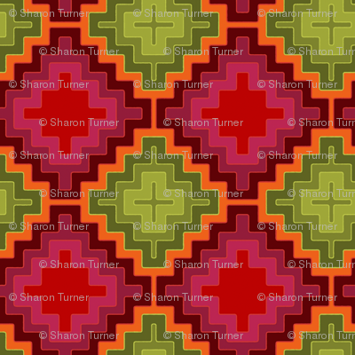 christmas kilim diamond