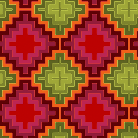 christmas kilim diamond fabric by scrummy on Spoonflower - custom fabric