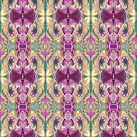 The War of the Art Nouveau Spadeflowers fabric by edsel2084 on Spoonflower - custom fabric