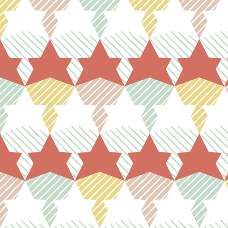 stars & stripes fabric by estrella_de_anis on Spoonflower - custom fabric
