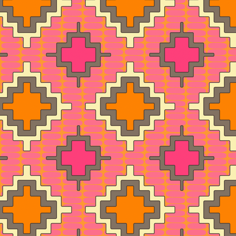 tangerine kilim fabric by scrummy on Spoonflower - custom fabric