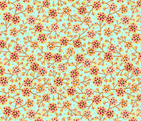 Candy Apple Blossom fabric by patriciasheadesigns on Spoonflower - custom fabric