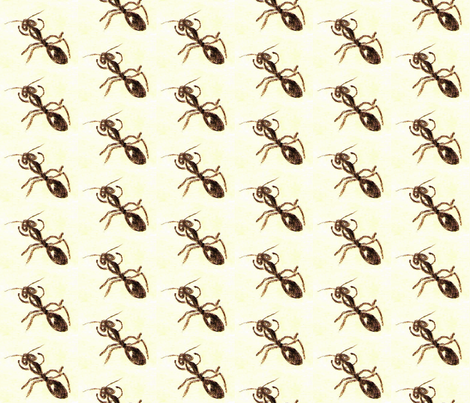 The Ants Go Marching Up and Up fabric by anniedeb on Spoonflower - custom fabric