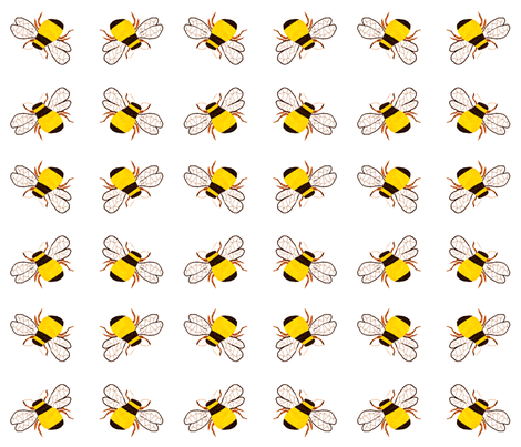 Bumble Bee Square Dance fabric by anniedeb on Spoonflower - custom fabric