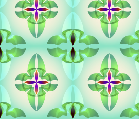 Green_leaves fabric by lavaflowzzz on Spoonflower - custom fabric