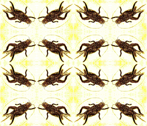 Cricket Circle fabric by anniedeb on Spoonflower - custom fabric