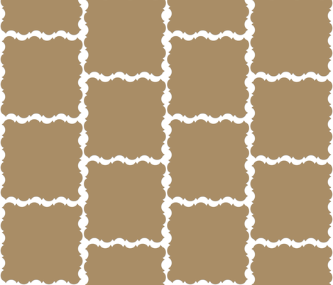 Beige with white squiggles