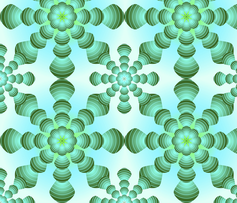 Green_Spiral fabric by miguel_issa on Spoonflower - custom fabric