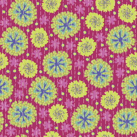 Kantha Floral 6 fabric by bee&lotus on Spoonflower - custom fabric