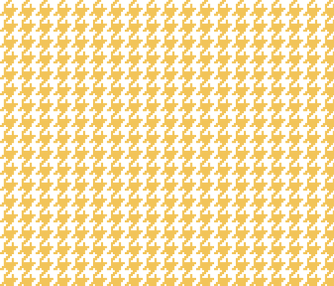 Houndstooth Saffron fabric by lulabelle on Spoonflower - custom fabric