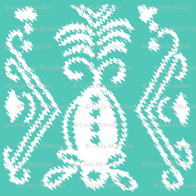 Pineapple Ikat Aqua