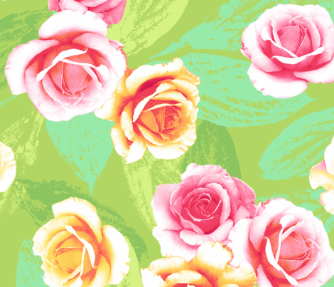 Summer Rose fabric by neatdesigns on Spoonflower - custom fabric