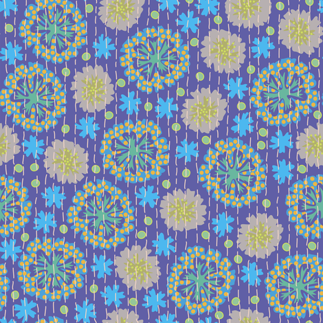Kantha Floral 4 fabric by bee&lotus on Spoonflower - custom fabric