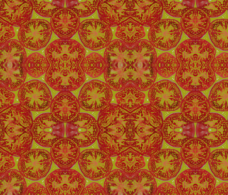 Sliced Tomatoes fabric by lcampbell on Spoonflower - custom fabric