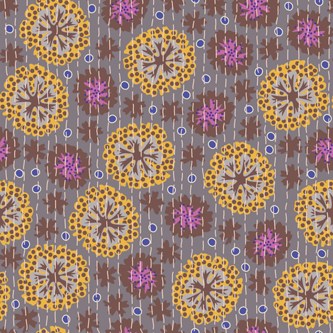 Kantha Floral 3 fabric by bee&lotus on Spoonflower - custom fabric