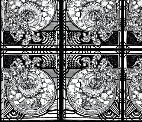 Plant on round table fabric by ashleyamandadesigns on Spoonflower - custom fabric