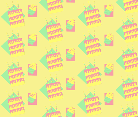 Cakes! fabric by allgeek on Spoonflower - custom fabric
