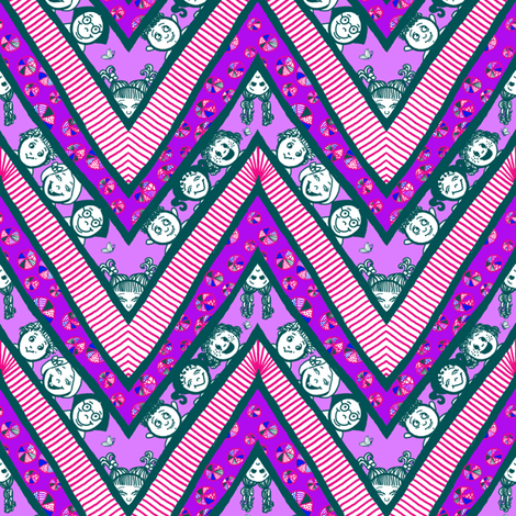 Zig-Zaggy Kids: Small  fabric by tallulahdahling on Spoonflower - custom fabric