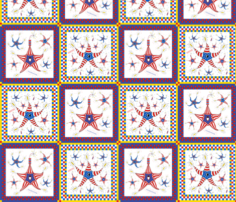 Seamus and Mortimer Cheater Quilt fabric by maplewooddesignstudio on Spoonflower - custom fabric