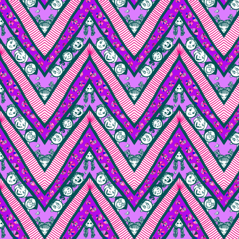 Zig-Zaggy Kids: Smallest fabric by tallulahdahling on Spoonflower - custom fabric