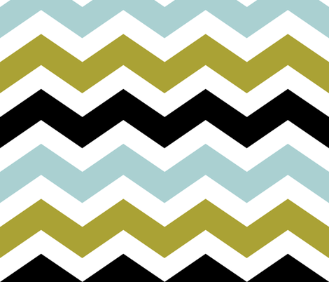 olive chevron fabric by jeanna_casper on Spoonflower - custom fabric