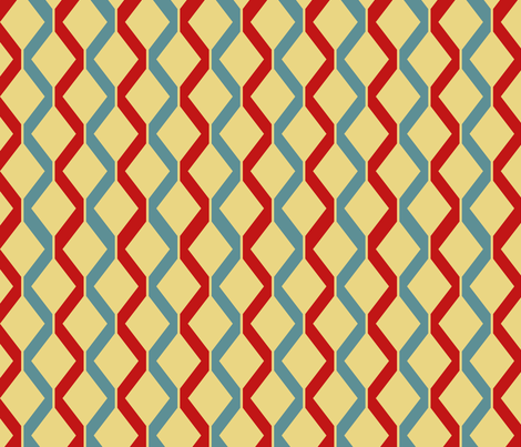 Retro Ray Gun Coordinate Red and Blue fabric by indelibleink on Spoonflower - custom fabric