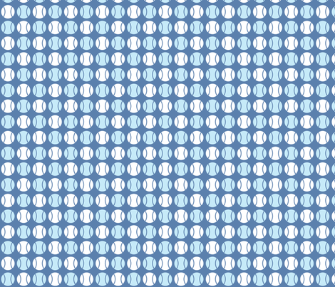 Small Blue Tennis Balls fabric by audreyclayton on Spoonflower - custom fabric