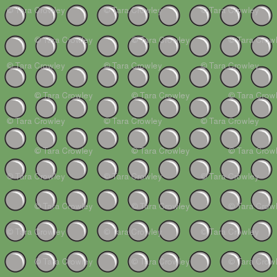 Robot Panels with Small Rivets on Green