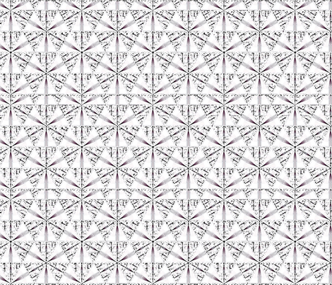 Delicate Black Sketch Sierpinski © Gingezel™ 2012 fabric by gingezel on Spoonflower - custom fabric