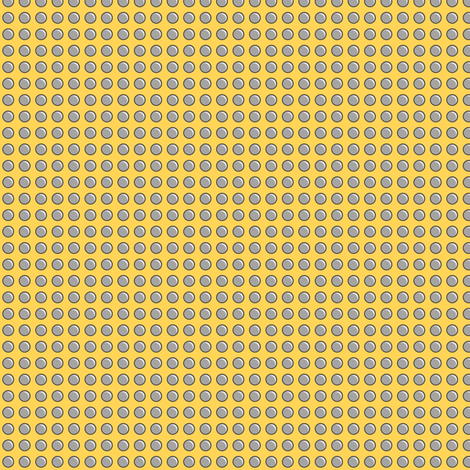 Robot Panels with Small Rivets on Yellow fabric by quiltsmith on Spoonflower - custom fabric