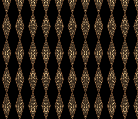 Black With Brown Textured Diamonds © Gingezel™ 2012 fabric by gingezel on Spoonflower - custom fabric
