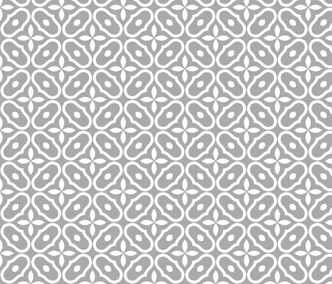 Mosaic - Light Grey fabric by inscribed_here on Spoonflower - custom fabric